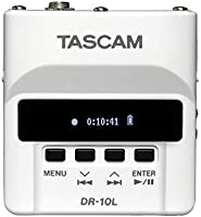 Tascam DR-10LW Tascam DR-10LW Micro Linear PCM Recorder with Lapel Microphone, White,White