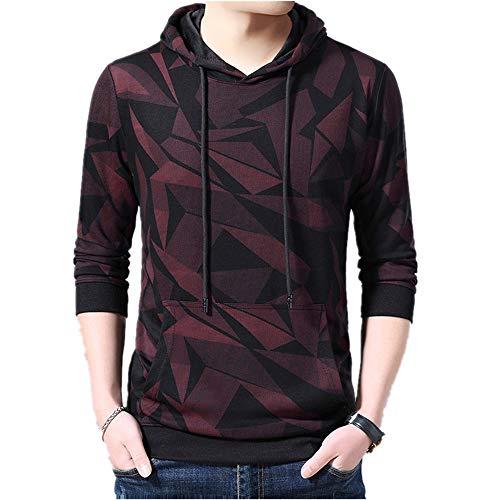 Suéter de manga larga con capucha para hombre