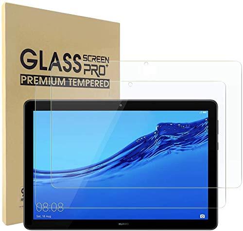 Lspcase Vetro Temperato per Huawei Mediapad T5 10 10.1 Pollici Ultra Slim Pellicola Protettiva in Vetro Temperato Ultra Slim HD per Tablet Huawei Mediapad T5 10 10.1 Pollice 2018 (Pacco da 2)