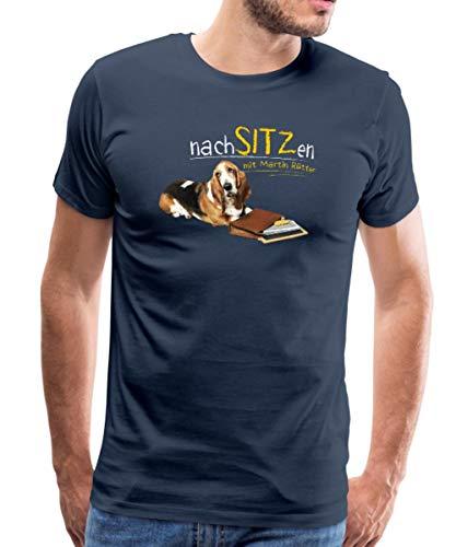 Martin Rütter Nachsitzen Männer Premium T-Shirt, XXL, Navy