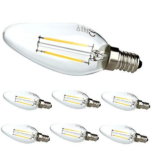 Set van 6 2 Watt LED-kaars draad lamp filament E14 230V 774
