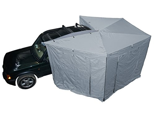 Prime Wing 270 Grad Markise 250cm grau Fahrerseite komplett mit Seitenteilen
