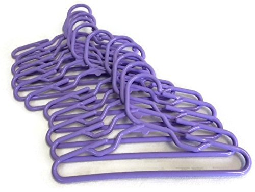 Doll Hangers Set of 12 Plastic Hangers Lavender, Fits 18 Inch American Girl Dolls Clothes, Doll Accessories