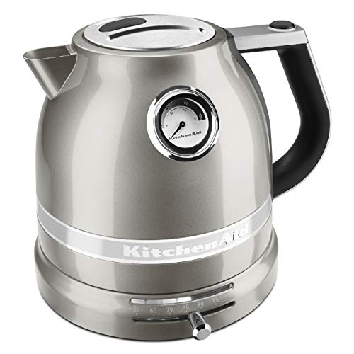 KitchenAid KEK1522SR Pro Line Sugar Pearl Silver 1.5 Liter Electric Kettle (Renewed)