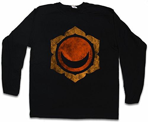 Urban Backwoods Chakra Svadhisthana Sacral Long Sleeve T-Shirt De Manga Larga Negro Talla L