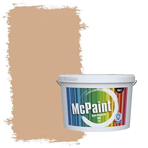 McPaint Bunte Wandfarbe Sand - 10 Liter - Weitere Orange Farbtöne Erhältlich - Weitere Größen Verfügbar