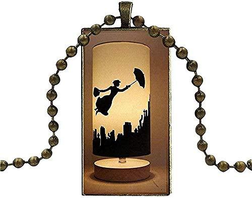 WYDSFWL Collar Vintage Nepal Jewelry Hecho a Mano de sándalo Negro Colgante de Madera Collares Largos Collar de Hoja de Flor étnica Collares Collar de Regalo