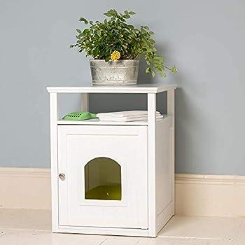 Lords & Labradors en bois Blanc Cat Washroom