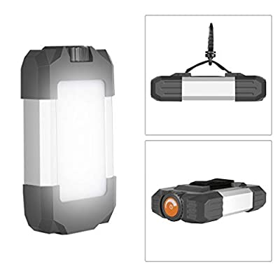 GORRON Outdoor LED Camping Lantern with USB Rechargeable 6000mAH, Portable Hang Tent Camp Lamp, Stepless Dimming Mountain Camping Lighting Equipment for Travel Mountaineering Tourism Adventure