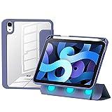 Funda para iPad Mini 6 2021 De 8,3 Pulgadas, Funda Protectora con Separación Magnética, Funda con Soporte Tríptico Y Carcasa Trasera Transparente Funda para iPad Mini 6,D