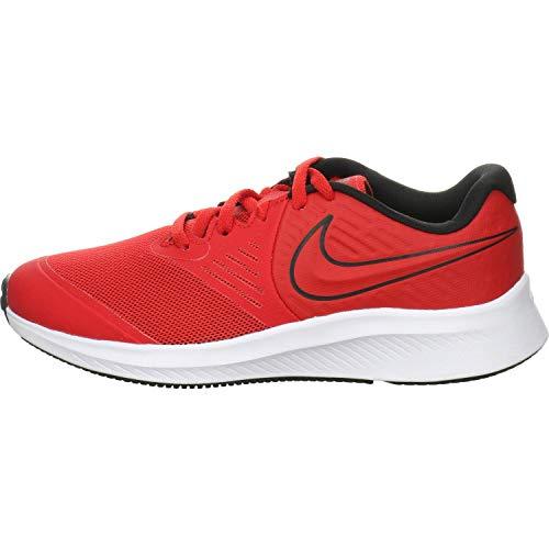 Nike Unisex AQ3542-600-5Y Laufschuh, University Red Black Volt, 37.5 EU