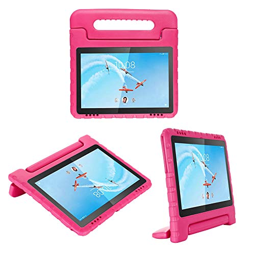 cradle HR Compatible Kids Protective New Hand stand Case for Lenovo Tab E10(TB-X104F) 10.1 Inch 2019 Tablet,EVA Light Weight Protective Case Shock Proof stand Cover (magenta)
