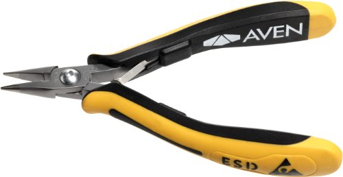 Aven 10843 Accu-Cut Chain Nose Pliers, 4-1/2' Smooth, Short Jaw