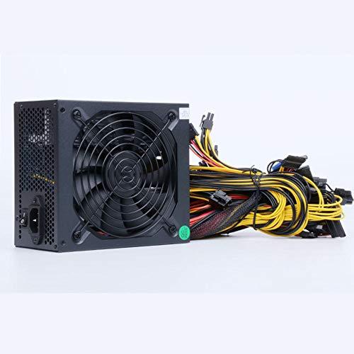 ATX PSU 6/8 GPU Fuente de alimentación de minería Bitcoin, 2000/2400 / 2600W PC Fuente de alimentación AC 160-240V PSU Bitcoin Eth RIG Ethereum Miner 1 * 20 + 4Pin 1 * SATA 1 * 4 + 4PIN 16 * 6 + 2Pin