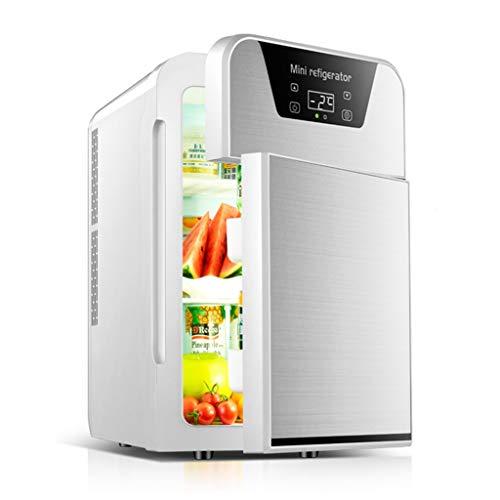 Mini réfrigérateurs Réfrigérateurs for Bureau Muet Réfrigérateur Réglable Ménager Refroidisseur De Boissons De Grande Capacité (Color : Silver, Size : 28 * 36 * 45cm)