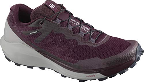 Salomon Women's Sense Ride 3 W Trail Running, Winetasting/Alloy/Burnt Coral, 11