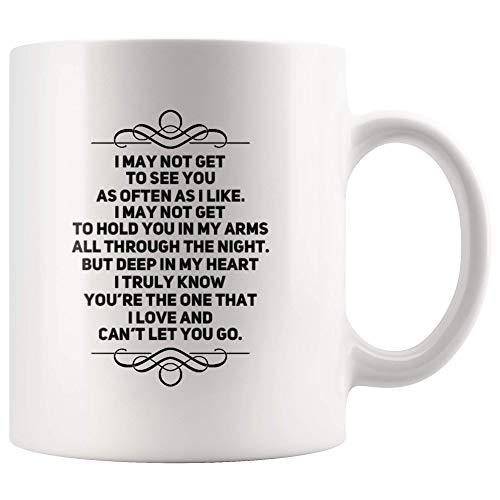 Tazza caffè ceramica Potrei non vederti come spesso mi piace, ma ti amo Anniversario fidanzato fidanzato ispiratore a lunga distanza Zuppa Contenitore Lavoro Casa Scuola
