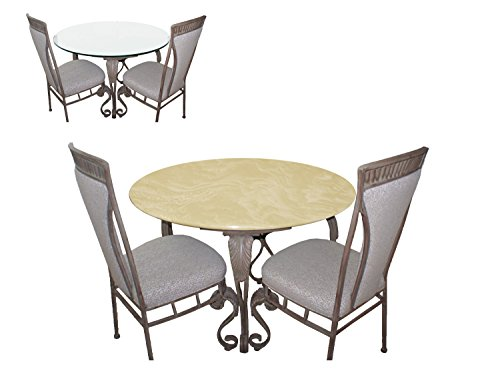 Fitted Table Cover for Glass Tables up to 48' Dia. Color Coffee for All Round Tables, Dining Tables, Patio Tables, Indoor/Outdoor