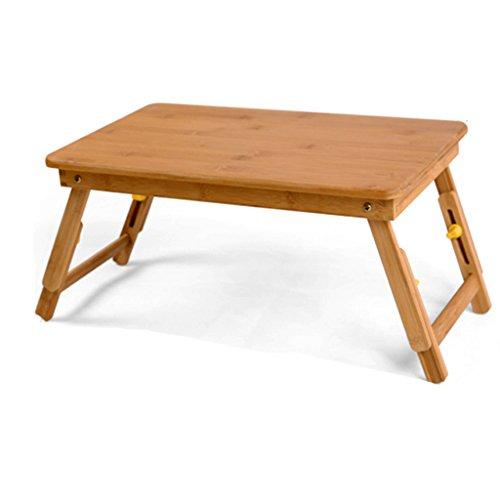 Ordinateur portable table lit avec un petit bureau maison pliant table paresseux do dortoir table étudiants table bambou sauvage naturel environnement matériaux