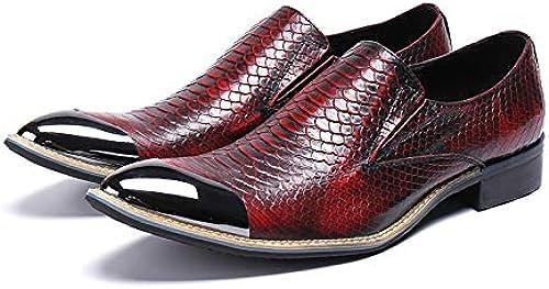 LOVDRAM schuhe De Cuero para Hombre schuhe Formales para herren Marca De Lujo Punta Estrecha Vestido Calzado Hombre Oficina schuhe Oxford Italianos para herren
