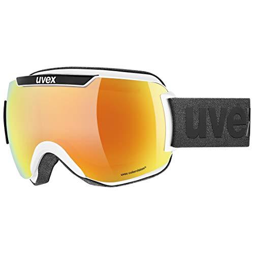 Uvex Unisex– Erwachsene Downhill 2000 CV Skibrille, White Black/orange-Green, Einheitsgröße