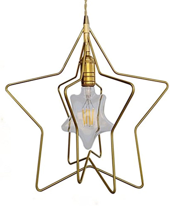 Moderner LED Einfach Pendelleuchte Kupferstern Anhnger Modisch Fisch Zeilentyp Pendellampe Persnlichkeit Kreativitt Hngeleuchte 33CM Bar Wohnzimmer HngelampeBlitz Gold Hoch Einstellbar