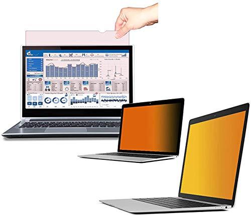 FoxCrypt Gold Premium Laptop   Notebook Anti-Spy Privacy Filter Blickschutzfilter Sichtschutzfolie Blickschutzfolie - Gold (13.3