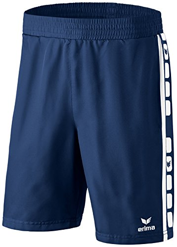 Erima Classic 5-C Short Homme New Navy/Blanc FR : M (Taille Fabricant : M)