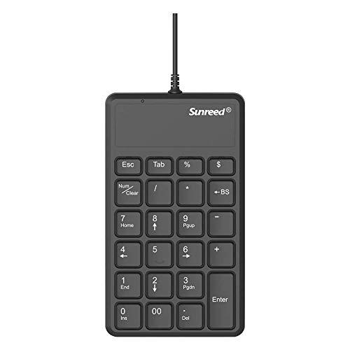 Mini tastiera numerico, filo Mini USB Numero Pad Full-Size 23 Tasti Tastiera per Laptop Desktop PC … (nero)