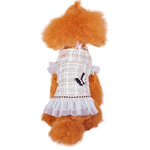 XZJJZ Princesa Perro Gatos Invierno Vestido Abrigo Chaqueta Mascota Cachorro Sudadera con Capucha Ropa cálida Apperal (Size : M Code)
