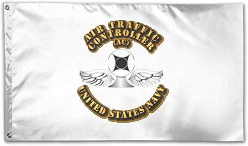 Jeewly Bandera del jardín 3x5 Foot Navy - Rate - Air Traffic Controller Flag - Vivid Color and UV Fade Resistant