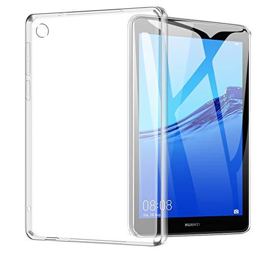 TOPACE Hülle für Huawei MediaPad M5 lite 8, Ultra Schlank R&umschutz Softschale Silikon TPU Stoßfest Anti-Fingerabdruck Shock Absorption Tasche Cover für Huawei MediaPad M5 lite 8 (Transparent)