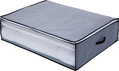 アストロ 布団収納袋 敷布団用 グレー 活性炭消臭 不織布 171-39