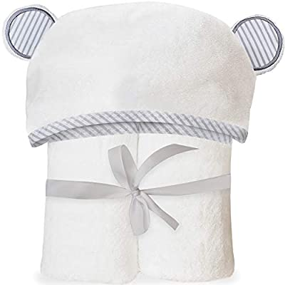 Ultra Soft Bamboo Hooded Baby Towel - Hooded Bath Towels with Ears for Babies, Toddlers - Large Baby Towel - Cute for Boys and Girls by San Francisco Baby