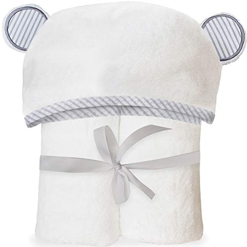 San Francisco Baby Ultra Soft Bamboo Hooded Baby Towel - Hooded Bath Towels with Ears for Babies, Toddlers - Large Baby Towel Perfect for Boys and Girls