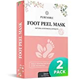 Foot Peel Mask 2 Pairs, Feet Callus Remover & Dead Skin Remover, Exfoliating Foot Mask, Make Your Feet Baby Soft by PureSmile