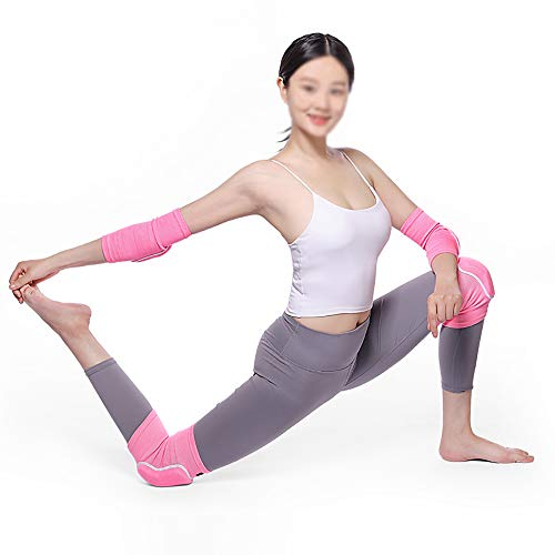 Omenluck 1 Pair Elbow Support Sleeve Arm Sleeves Antislip Home Yoga Plank Training Thickened Breathable