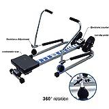 Rowing Machines Trac Glider Rudergerät Home Gym Workout Geräte mit LCD-Display 310 LB Gewicht Kapazität - 2