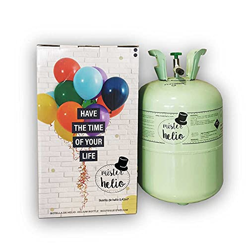 Bombona de Helio Mister Helio (0,42m3) hasta 50 globos (globos no incluidos)