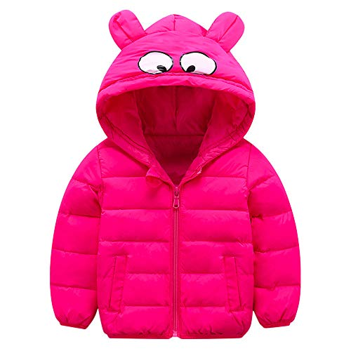 Review Children Winter Coats Jacket Zip Thick Windproof Hoodie Clothes for Boys Girls