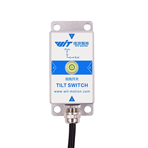 WitMotion SINRT High-Precision Dual-axis Relay-Output-Type Alarm Tilt Swtich, Inclinometer Sensor(MEMS Tech,Anti-Vibration,IP67 Protection, ±90 Degree), Stance Tilt Sensor Module for Arduino and More