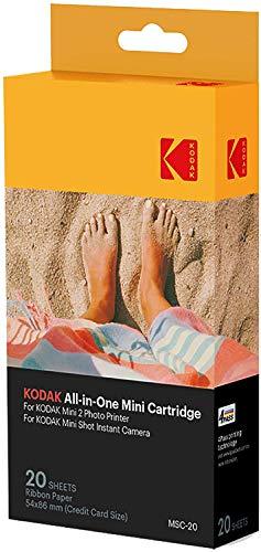 Oferta de Kodak–Cartucho Mc impresión fotográfica mini, todo en uno, tinta y papel, lote de 20, compatible con cámara Mini Shot, impresora Mini 2