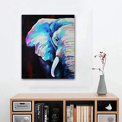 YHZSML Afrika Elefant Tier Landschaft leinwand malerei auf leinwand Kunst Poster und Druck abstrakte Kunst wandbild für Wohnzimmer dekor 60x80 cm