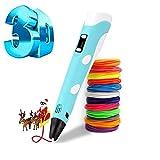Bolígrafo 3D, bolígrafo de impresión 3D inteligente con filamento de 12...