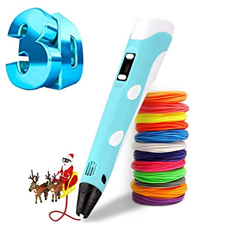 Penna a stampa 3D intelligente, con filamento di 12 colori, compatibile con PLA e ABS, display LCD, ideale come regalo per bambini