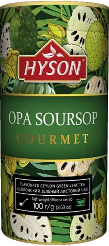 HAS TEE - HYSON EXOTIC FRUITS GOURMET - AROMATISIERTER GRÜNER CEYLON TEE LOSE AROMATISIERT - BLATT TEE 100 g (Soursop/Graviola Grüner Tee)
