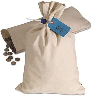 Heavyweight Cotton Duck Cloth Coin Bag, 10oz Canvas, 12 x 19, White