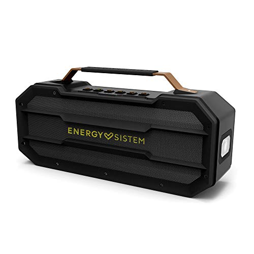 Energy Outdoor Box Street Altavoz portátil con Bluetooth (50W, USB, microSD, FM Radio, Power Bank, a Prueba de Golpes)