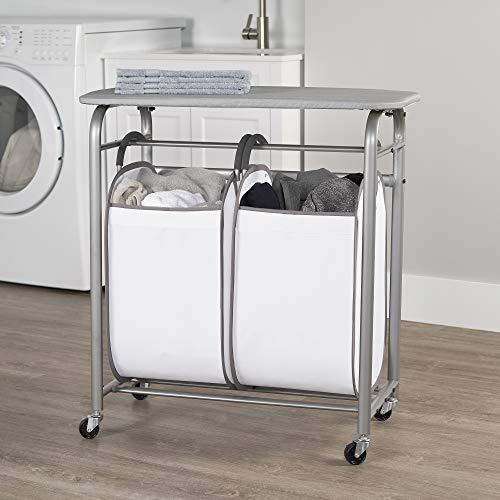 neatfreak! Easy Access Double Laundry Sorter w Folding Table