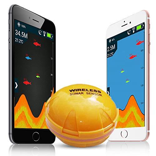Tragbarer Handy-Fischfinder, drahtloser Bluetooth-Sonar-Tiefenfisch-Fischfinder, intelligenter visueller hochauflösender Sonar-Fischfinder zum Angeln